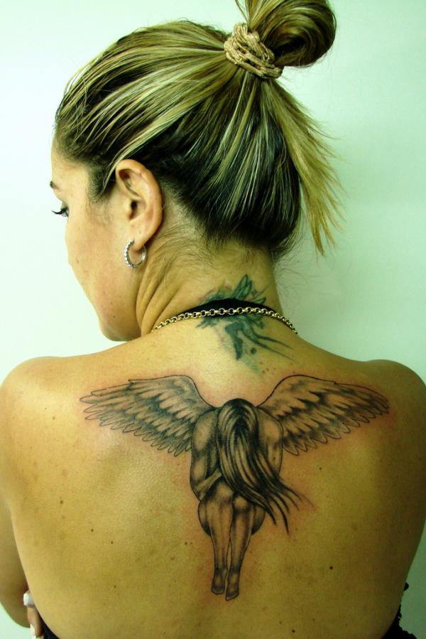 angel tattoo for girls - photo #12