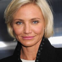 Cameron Diaz Short Hairstyle - Chic Chin Length Bob Cut