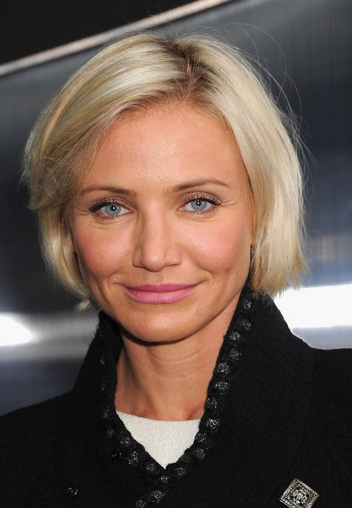 Cameron Diaz Short Hairstyle Chic Chin Length Bob Cut