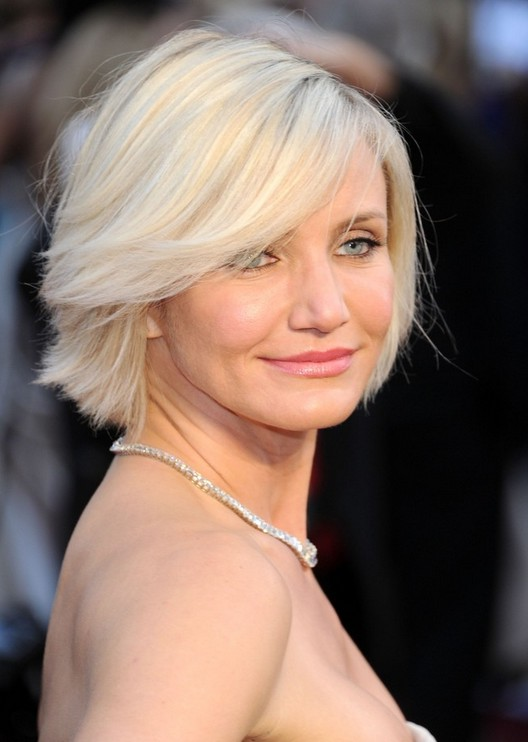 Short Choppy Bob Hairstyle For Women Over 40 Cameron Diaz | Short Hairstyle 2013