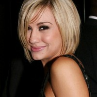 Chelsea Kane Cute Side Parted Bob Hairstyle with Bangs
