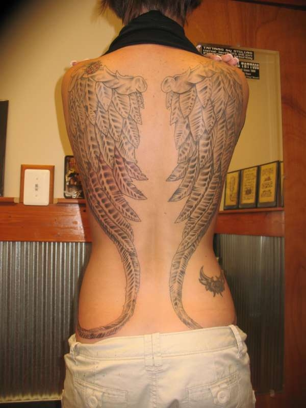 Cool Angel Wings Tattoo