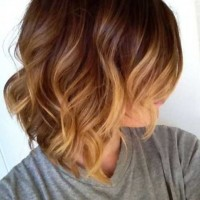 Cute Short Ombre Bob Hair Cut 2015