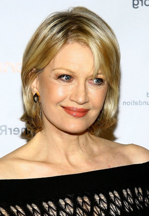 Diane Sawyer Bob Hairstyle for Older Women Age Over 60 | Styles Weekly