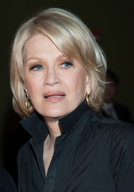 Diane Sawyer Short Bob Hairstyle for Older Women Over 60