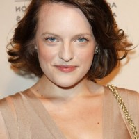 Elisabeth Moss Short Choppy Bob Hairstyle