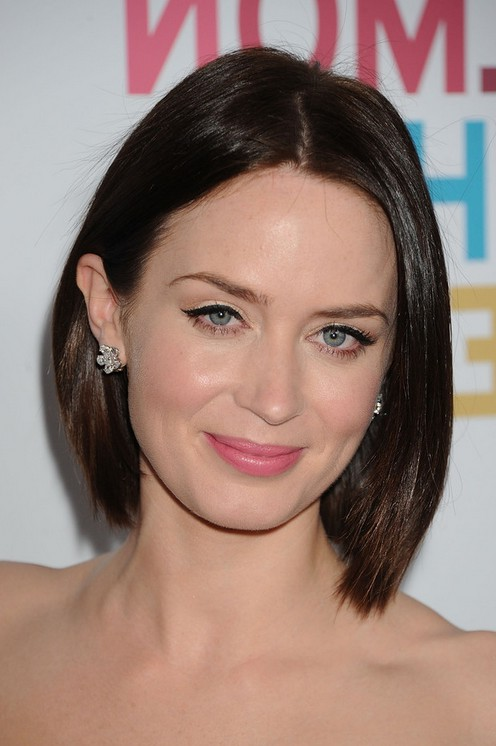 Emily Short Angled Bob Hairstyle /Getty images