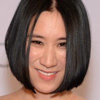 Eva Chen Short Black Sleek Bob Haircut