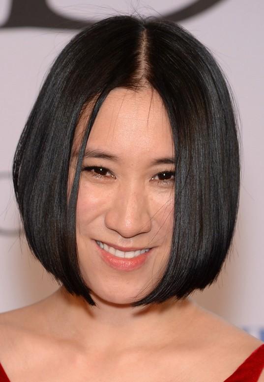 Eva Chen Short Black Sleek Bob Haircut