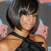 Female Celebrity Monique Coleman Short Graduated Bob Hairstyle for Black Women