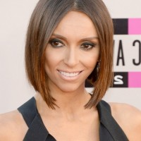 Giuliana Rancic Short Haircut: Trendy Modern Bob Hairstyle