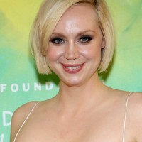 Gwendoline Christie Chin Length Short Straight Bob Haircut with Bangs
