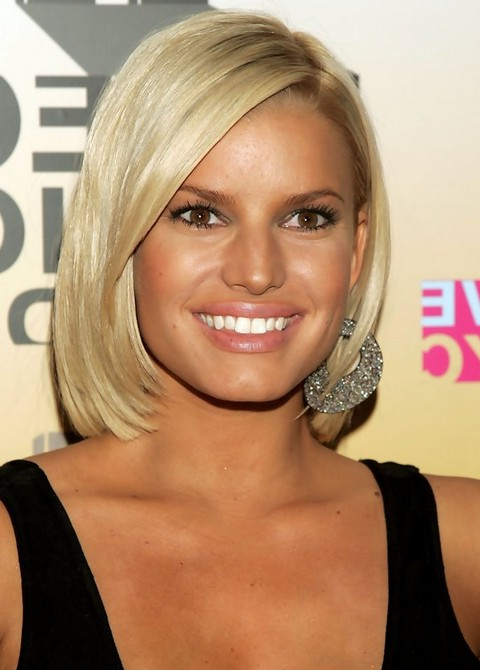 Jessica Simpson Long Bob Hairstyle