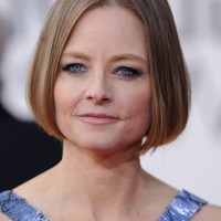 Jodie Foster Chin Length Bob Haircut for Women Over 50