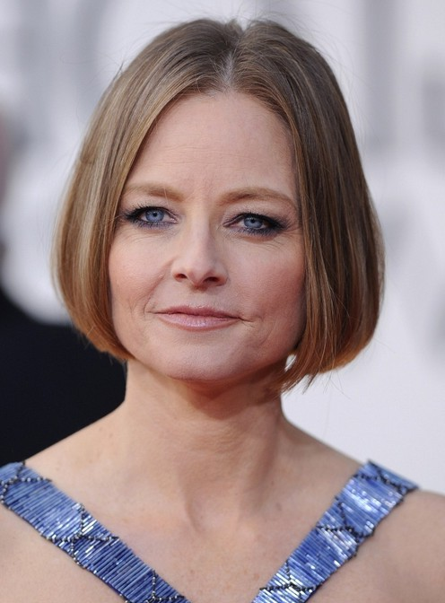 Stupendous Jodie Foster Chin Length Bob Haircut For Women Over 50 Styles Weekly Short Hairstyles Gunalazisus