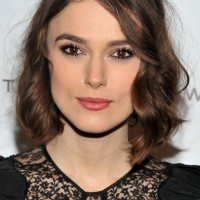Keira Knightley Medium Bob Hairstyle with Curls