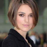 Keira Knightley Short Stacked Bob Haircut