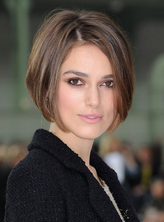 Keira Knightley Short Stacked Bob Haircutm for Women | Styles Weekly