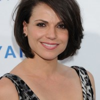 Lana Parrilla Feminine Bob Hairstyle with Bangs