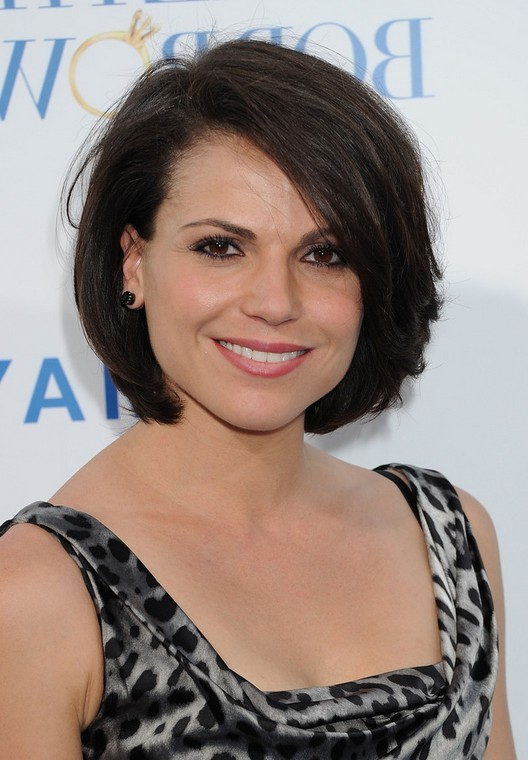 Lana Parrilla Feminine Bob Hairstyle With Bangs Styles