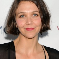 Maggie Gyllenhaal Short Brown Bob Haircut for Thin Hair
