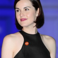 Michelle Dockery Short Black Bob Hairstyle