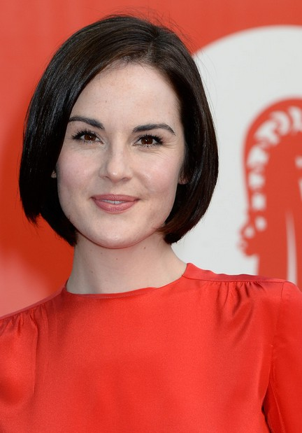 Michelle Dockery Short Haircut: Stacked Bob Hairstyle