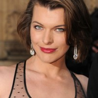 Milla Jovovich Sexy Short Bob Hairstyle for Women