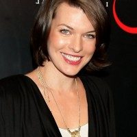 Milla Jovovich Short Brunette Bob Haircut for Women