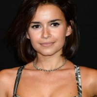 Miroslava Duma Chin Length Dark Brown Bob Hairstyle