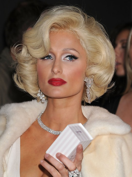Paris Hilton Short Curly Bob Hairstyle /Getty images