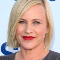 Short Blonde Straight Bob Haircut from Patricia Arquette