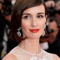 Paz Vega Short Haircut: Side Parted Sleek Bob