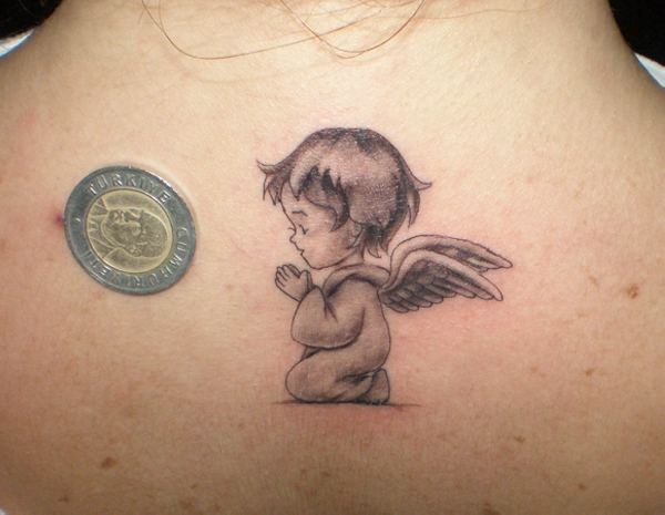 angel tattoo for girls - photo #24