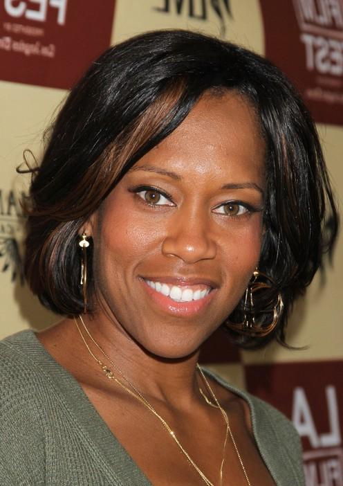 Regina King Short Bob Hairstyle for Black Women