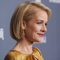 Side View of Penelope Ann Miller Short Bob Hairstyle