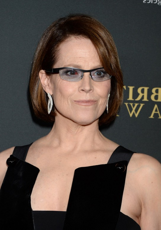 Sigourney Weaver Classic Short Bob Hairstyle for Older Women Over 60