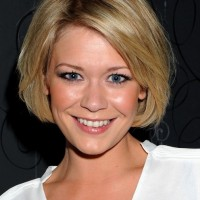 Suzanne Shaw Cute Short Bob Hairstyle with Bangs