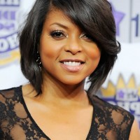 Taraji P. Henson Short Angled Bob Haircut for Black Women
