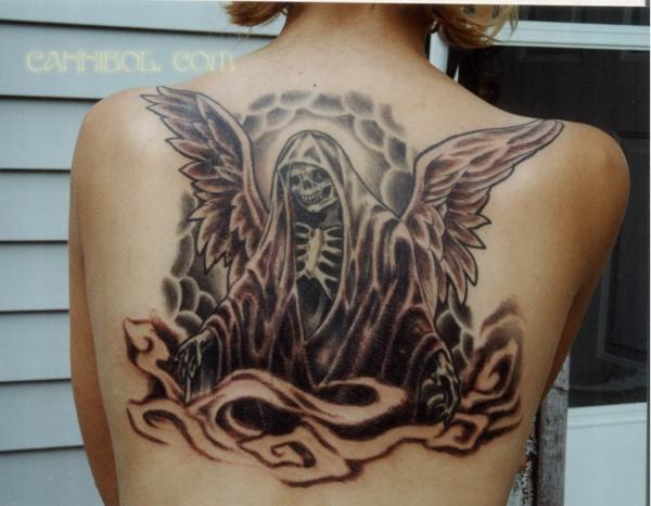Vanessa Angel of Death Tat Tattoo