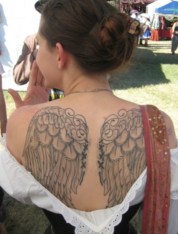 Wings Tattoo Back Designs