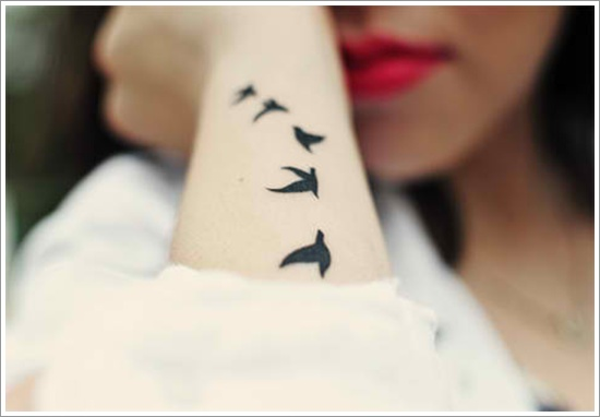 Small bird tattoo designs for wrist