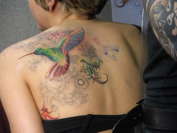 Humming bird tattoo