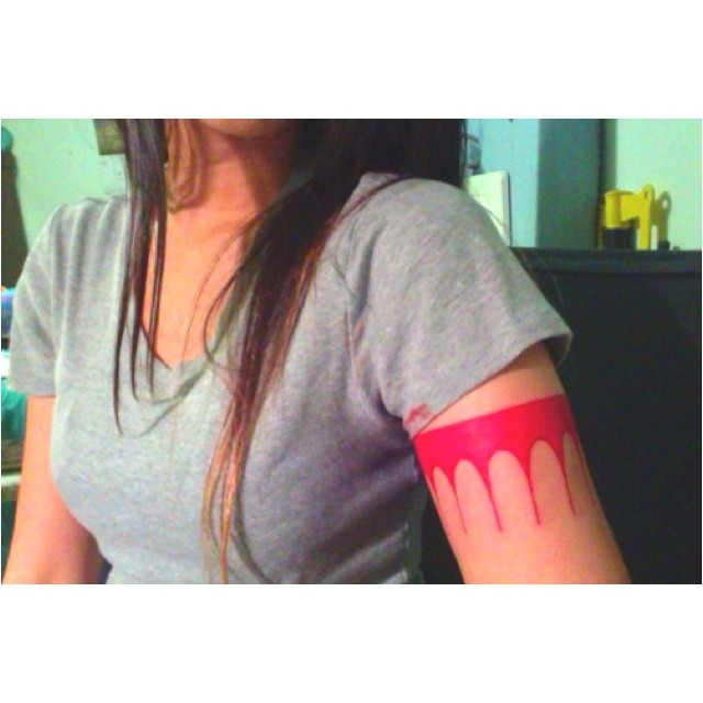 Pocahontas Arm Band Tattoo