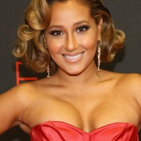 Adrienne Bailon Short Curly Hairstyles for Prom