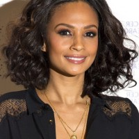 Alesha Dixon Layered Short Curly Bob Haircut for Fall
