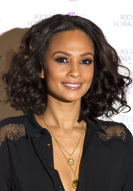 layered curly bob hairstyle hairstyles weekly alesha dixon layered curly bob haircut for fall 588