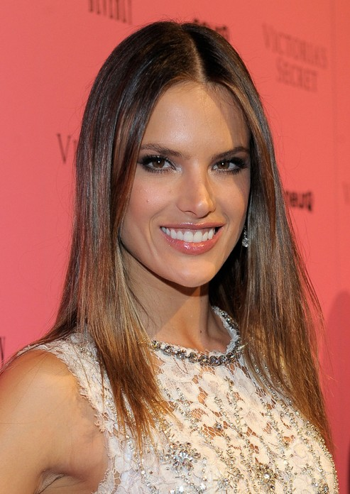 Alessandra Ambrosio Straight Hairstyles: Ombre Hair Style