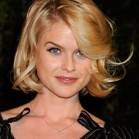 Alice Eve Short Bob Haircut with Tousled Curls