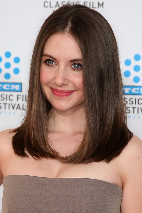 Alison Brie Straight Hairstyles
